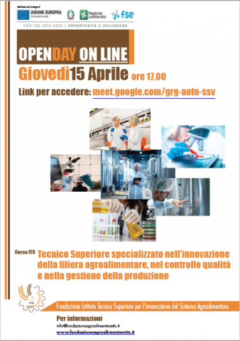 Open day ITS 15 aprile 2021